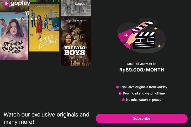 Hasil gambar untuk GoJek Luncurkan GoPlay, Layanan Streaming Pesaing Netflix